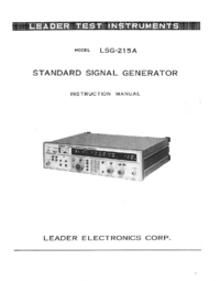 Manual del usuario Leader LSG-215 A