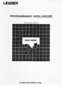 Manual del usuario Leader LBO-5880