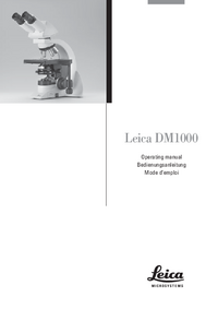 Manual del usuario Leica DM1000