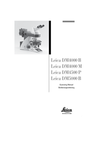 User Manual Leica DM4000 B