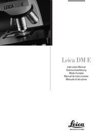 User Manual Leica DM E