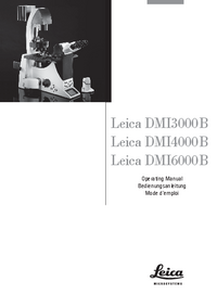 User Manual Leica DMI6000B