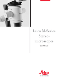 User Manual Leica MZAPO