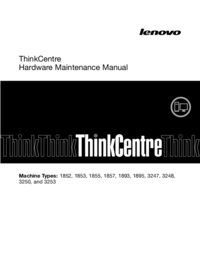 Manual de servicio Lenovo ThinkCentre 1895