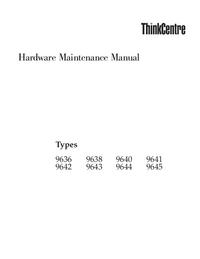 Instrukcja serwisowa Lenovo ThinkCentre 9643