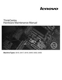 Manual de servicio Lenovo ThinkCentre 6416