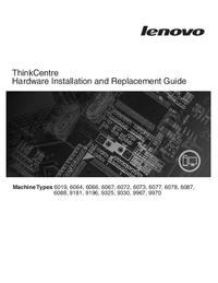 Manuale di servizio Lenovo ThinkCentre 6078