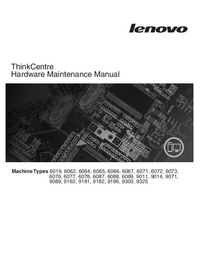 Service Manual Lenovo ThinkCentre 6067