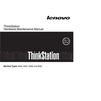 manuel de réparation Lenovo ThinkStation 6423