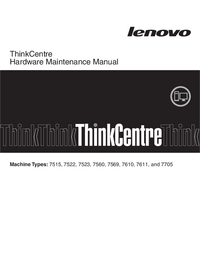 manuel de réparation Lenovo ThinkCentre 7515