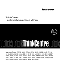 manuel de réparation Lenovo ThinkCentre 3699