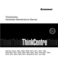 Manual de servicio Lenovo ThinkCentre 0845