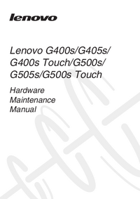 Manual de servicio Lenovo G400s Touch