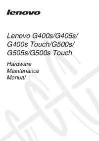 manuel de réparation Lenovo G400s Touch