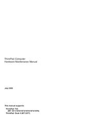 Service Manual Lenovo ThinkPad Dock II
