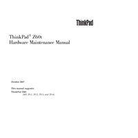 Manual de serviço Lenovo ThinkPad Z60t
