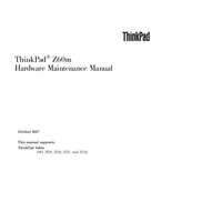 Manual de servicio Lenovo ThinkPad Z60m