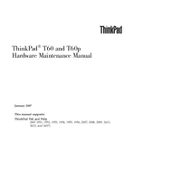 Manual de serviço Lenovo ThinkPad T60