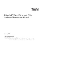 Service Manual Lenovo ThinkPad Z61m