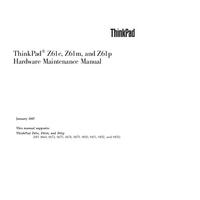 manuel de réparation Lenovo ThinkPad Z61e