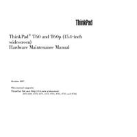 Service Manual Lenovo ThinkPad T60p