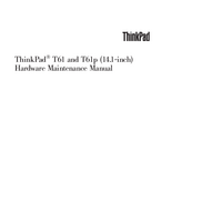 Manual de servicio Lenovo ThinkPad T61