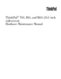 Manual de servicio Lenovo ThinkPad R61i