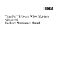Service Manual Lenovo ThinkPad T500
