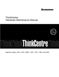 Service Manual Lenovo ThinkCentre 1186