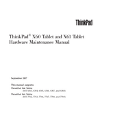 Service Manual Lenovo ThinkPad X61 Tablet