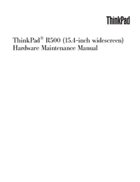 Manual de servicio Lenovo ThinkPad R500