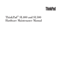 Service Manual Lenovo ThinkPad SL400