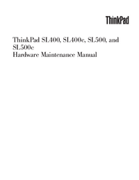 Service Manual Lenovo ThinkPad SL500c