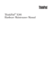 Manual de servicio Lenovo ThinkPad X301