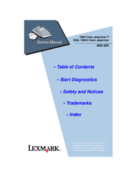 Service Manual Lexmark 7200 Color Jetprinter
