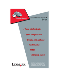 Service Manual Lexmark 3200 Color Jetprinter