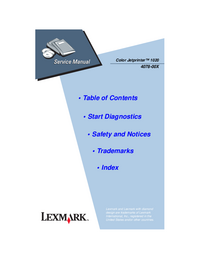 Service Manual Lexmark Color Jetprinter 1020
