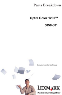 Part List Lexmark Optra Color 1200