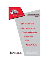 Manual de servicio Lexmark Optra Color 45
