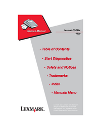 Serviceanleitung Lexmark E322n