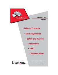 manuel de réparation Lexmark T52x
