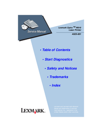 Servicehandboek Lexmark Optra W810 4023-001
