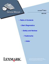manuel de réparation Lexmark W812 4022-110