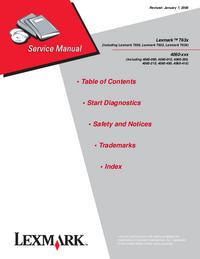 Service Manual Lexmark Lexmark T634n 4060-410