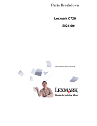 Liste des pièces Lexmark C720 5024-001