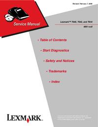 Manual de servicio Lexmark Lexmark T644 4061-400
