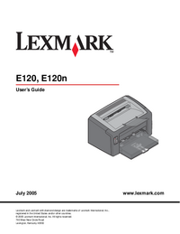 Manual del usuario Lexmark E120n