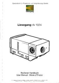Manuel de l'utilisateur Liesegang DV 1024