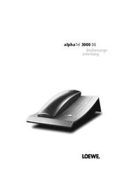 Bedienungsanleitung Loewe alphaTel 3000 DE