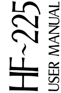 Manuale d'uso Lowe HF-225